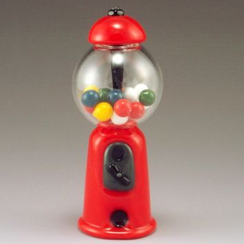 Gumball Machine by Garrett Keisling: Art Glass Perfume Bottle | Artful Home