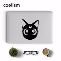 Sailor Moon Cat Luna Anime Laptop Sticker for Apple Macbook Decal Pro Air Retina 11 12 13 15 inch Mi Mac Notebook Skin Stickers