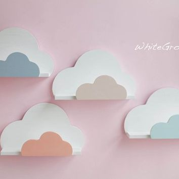 Cloud,Shelf,Cloud Shelf,Cloud Nursery Decor,Cloud Kids Decor,Bookshelf,Cloud Wall Shelf,Cloud Nursery,Wall decor,Wall hanging cloud