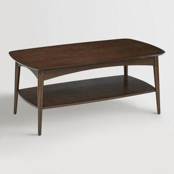 Walnut Brown Wood Brewston Coffee Table