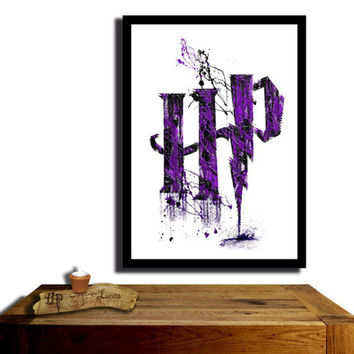 Harry Potter Poster, 'Wizarding Purple'....Paint effect poster