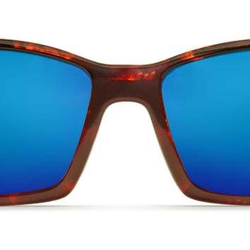Costa - Blackfin Tortoise Sunglasses / Blue Mirror Polarized Glass Lenses