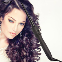 Professional Automatic Hair Curler Rollers Magic Tongs Ceramic Cone Salon Hair Curling Irons Wand Hairstyling Tools LCD Display