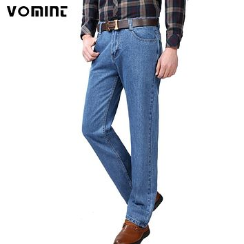 2017 New Mens Vintage Jeans Classic Denim Cotton Fabric 3 Colors Casual Business Trousers Pants Cargo traditional Jeans Male