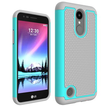 For LG K4 2017 Case Fashion Hybrid 2 in 1 Silicone TPU Dual color Phone Cover Case for LG K4 (2017) M160 Phoenix 3 Fortune