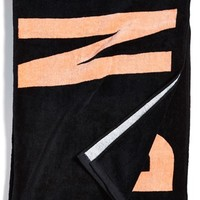 Junior Women's Rip Curl 'Surf Naked' Cotton Velour Towel - Black
