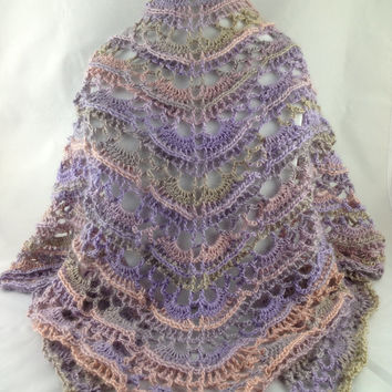 Pastels Shawl - Crochet Shawl - Wrap - Scarf - Pastel - Spring - For Her - For Mom
