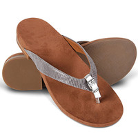 The Lady's Plantar Fasciitis Buckled Sandals
