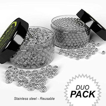SET of Beads amp Flying Saucers Decanters Stainless Steel Cleaning Agents  Reusable For Glass ContainersWine BottlesCarafes Narrow Spouted VasesHard To Reach Spots Erases DirtLimescaleSediment
