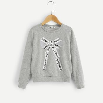 Girls Graphic Print Sweatshirt