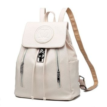 2017 New Fashion Girls Backpack PU leather Embossing School Bags Female Backpack lady's Soft Travel Backpack  Blak Pink White