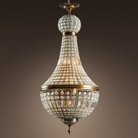 19th C. French Empire Crystal Chandelier Large | Ceiling | Restoration Hardware