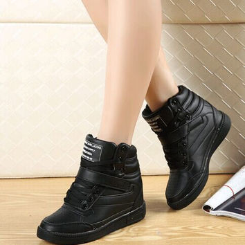 2016 spring autumn ankle boots heels shoes women