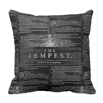 The Tempest Shakespeare Play Pillow