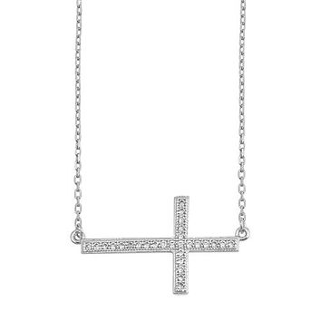 1.6TCW Pave Russian Lab Diamond Cross Necklace Pendant