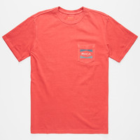 Rvca Rvca Nation Mens Pocket Tee Red  In Sizes