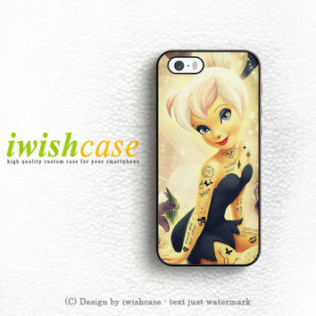 Disney Punk Gothic Tinkerbell iPhone 5 5S 5C Case Cover