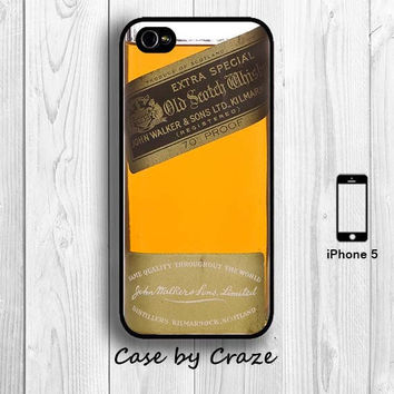 Black label Whisky Bottle iPhone 5 / 5S /4S /4 Hard Case Alcoholics Drinkers iPhone 5 Back Cover --000040