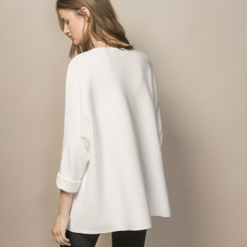 CAPE SWEATER - View all - Sweaters & Cardigans - WOMEN - Spain - Massimo Dutti