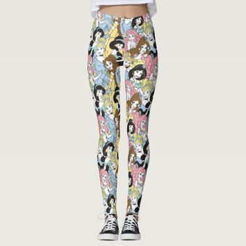 Disney Princess | Oversized Pattern Leggings