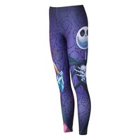 Jerry Leigh Junior's Nightmare Before Christmas Leggings, Size: