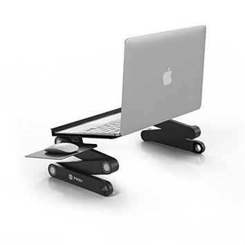 Pwr+ Portable Laptop-Table-Stand w/Mouse Pad Fully Adjustable-Ergonomic-Ultrabook-Macbook