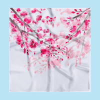 Cherry Blossom Silk Scarf - pink - large scarf