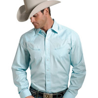 Stetson Solid Twill Snap Oxford Shirt - Sheplers