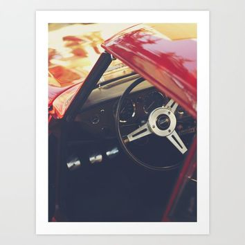 Fine art print, classic car, triumph, spitfire, color photo, still life, interior design, old car Art Print by Stefanoreves
