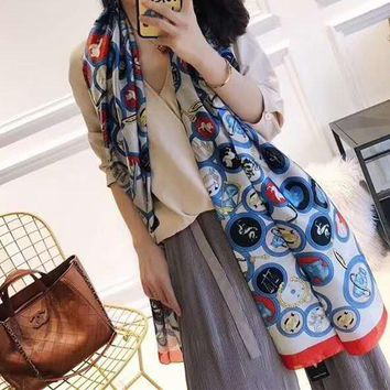 Woman Casual Fashion Classic Comfortable Double Sided Personality Pattern Scarf