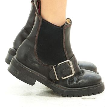 2c92f2010c6 Vintage 90 s Wild Pair Leather Buckle Boots ...