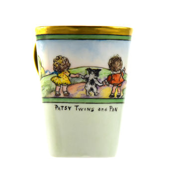 Patsy Twins and Pan Cup / Vintage Child's Cup / Hand Painted / Collectible Cup