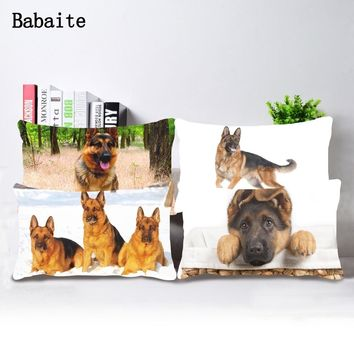 Babaite Doggy German Shepherd Dog Diy Throw Pillow Case Cover Bedding Set Twin Sides Drop Ship