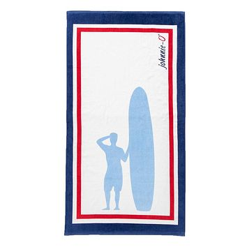 Sandpiper Towel in Gulf Blue by Johnnie-O
