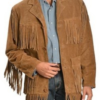 Men's Western Jedan Tan Leather Jacket | Style and Decor