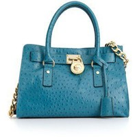 MICHAEL Michael Kors Handbag, Hamilton Gold Hardware Ostrich East West Tote - Calvin Klein - Plus Sizes - Macy's