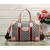 Gucci Fashion Women Shopping Leather Shoulder Bag Satchel Tote Handbag Pink I-LLBPFSH