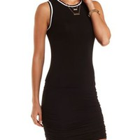 Striped-Trim Ruched Bodycon Dress by Charlotte Russe