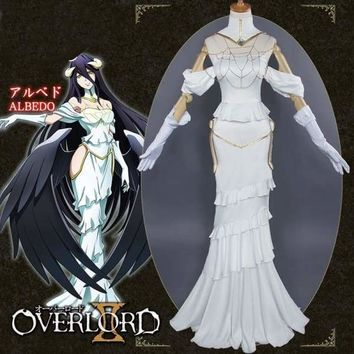 Anime Overlord Albedo Women Skirts Cosplay Costumes Sexy Queen Dresses Sets Macchar Cosplay Catalogue