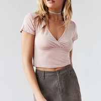 Kimchi Blue Celine Cross-Front Crop Top - Urban Outfitters