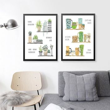 Plant Collections Posters And Prints Wall Art Canvas Painting Wall Pictures Kitchen Decor Picture HD2388