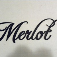 Merlot Wine Word Metal Wall Art Home Kitchen Decor:Amazon:Home & Kitchen