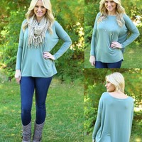 Pretty in Piko Top in Olive