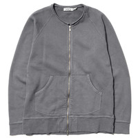 Dweller Full Zip - Cotton Sweat Overdyed Gray