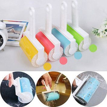 2018Washable Dust Cleaner Pet Hair Woolen Clothes Reusable Dust Wiper Tools Brush Fluff Cleaner Sticky Picker Lint Roller Carpet