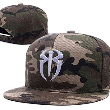 BIYJ Roman Reigns Logo Embroidery Camouflage Cap Camo Snapback Hat