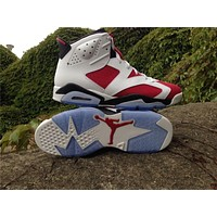 Air Jordan 6 red/white Basketball Shoes 41-47
