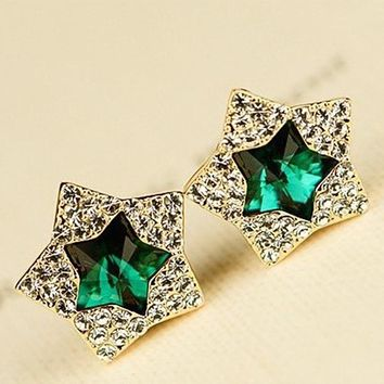 ES832 Fashion Pentagram Earrings Popular Ladies Wild Temperament For Women Earing Jewelry Accessories