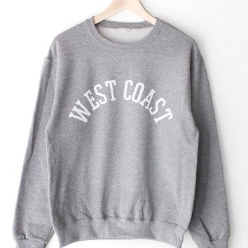 West Coast Oversized Sweatshirt - Grey