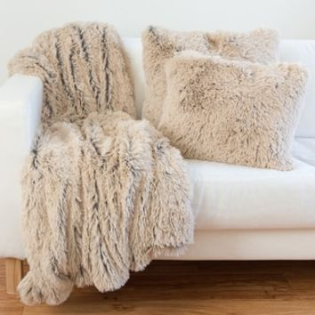 Designer Collections by Sheri Shag/ Faux Fur Pillow or Throw - 17895618 - Overstock - Great Deals on Throw Pillows - Mobile